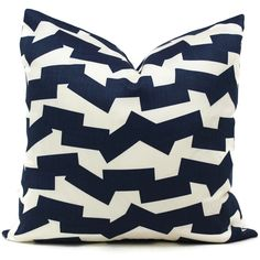 Schumacher Studio Bon Indoor Outdoor Navy Blue Jumble Pillow Cover, 18x18, 20x20, 22x22, 24x24, 26x26 or Lumbar Pillow Cover, Throw Pillow by PopOColor on Etsy https://www.etsy.com/listing/494294406/schumacher-studio-bon-indoor-outdoor