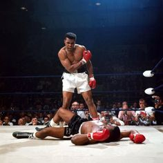 Muhammad Ali knocks out Sonny Liston in 1965 - Neil Leifer - Sports Illustrated