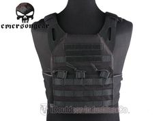 Emerson JPC Plate Carrier w Two Plates Tactical Hunting Gear Vest Black EM7344F | eBay