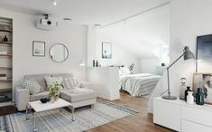 Awesome 15 Ideas of Minimalist and Simple One-Room Apartment https://decoratoo.com/2018/03/08/15-ideas-of-minimalist-and-simple-one-room-apartment/ If you have a one-room apartment or the studio one, you might want to decorate it well, so that it does not look like it is messy all the time. Here are some tricks that might help you.