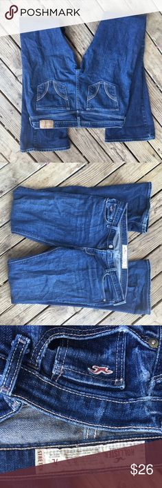 Hollister jeans Size 7L stretch jeans... Made by Hollister. Perfect condition with no holes tears rips etc.  will trade Hollister Jeans Boot Cut