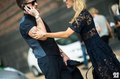 The best dressed couple- Justin O'Shea and Veronika Heilbrunner - TrendSurvivor Fashion Couple, Love Fashion, Girl Fashion, Men Fashion, Fashion Ideas, Street Style Blog, Casual Street Style, Street Styles, Coco Chanel