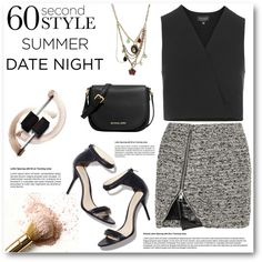 60 Second Style: Summer Date Night by asteroid467 on Polyvore featuring polyvore fashion style Topshop Bouchra Jarrar MICHAEL Michael Kors Betsey Johnson DateNight
