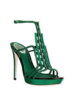 Give me some Emeralds and I'll be all set ;)) fall 2012, René Caovilla, shoes, high heels, green