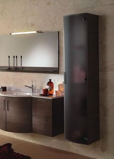 modern design wall hung bathroom storage linen cabinets in dark color corda wood guideline of linen - Bathroom Cabinets Kansas City