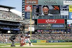 Detroit Tigers' Miguel Cabrera bats during the sixth inning of a baseball game against the Boston Red Sox, Saturday, April 8, 2017, in Detroit. (AP Photo/Carlos Osorio)