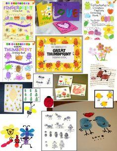 Fingerprint Art Examples | Examples of Fingerprint Art (original source unknown)