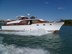 1955 53ft Chris Craft Conqueror...such a beauty!