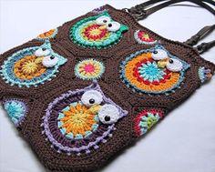 chic crochet owl tote pattern