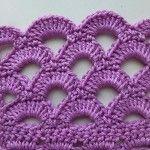 "Video & Crochet Pattern * Crochet Stitch ""Mesh of Shells"""