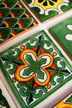 <3 Talavera Tiles -=- Very Beautiful Native Designs of Mexico !! <3