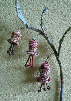 Поделка, изделие Плетение: Я в садочке была... Бумага газетная. Фото 18