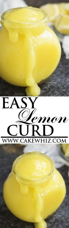 Learn how to make quick and easy LEMON CURD. This fool-proof recipe requires just 4 ingredients. It's sweet with a subtle tartness and delicious on cakes and cupcakes. From cakewhiz.com
