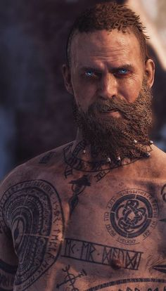 50 Viking tattoo ideas: Nordic symbols and their meaning 50 Wikinger Tattoo Ideen: Nordische Symbole und ihre Bedeutung Chest man runes compass dragons War Tattoo, Rune Tattoo, Norse Tattoo, Viking Tattoos, Arte Final Fantasy, Nordic Symbols, Scandinavian Tattoo, Kratos God Of War, Viking Warrior