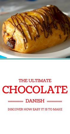 You don't have to go to your local bakery to enjoy a fresh Chocolate Chip Danish. You can make them at home with this easy and delicious recipe. Croissants, Pastry Recipes, Cooking Recipes, Sweet Crepes Recipe, Delicious Desserts, Yummy Food, Sweet Pastries, Eat Dessert First, Love Food