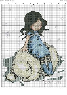 Foto Cross Stitching, Cross Stitch Embroidery, Embroidery Patterns, Cute Cross Stitch, Cross Stitch Charts, Modern Cross Stitch Patterns, Cross Stitch Designs, Stitch Character, Stitch Doll
