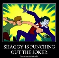When you get between The Shags and his scooby snacks, the joke's on you!