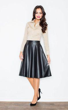 Black Flared Skirt - SilkFred