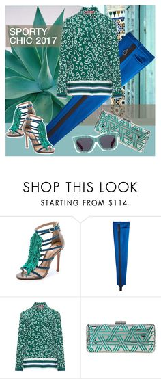 """""""***SPORTY CHIC 2017***"""" by linea-prima ❤ liked on Polyvore featuring Schutz, Nina Ricci, Marina Rinaldi, BCBGMAXAZRIA, Le Specs, Graphic, sporty, trend, sportystyle and Spring2017"""