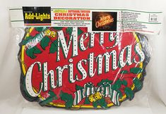"""Vintage True to Nature Merry Christmas Wood Wooden Sign Add The Lights 21""""X28"""" #TrueToNature"""