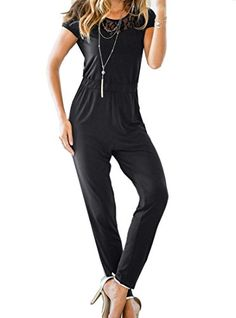 Winwinus Womens V-Neck Zip Up Belted Active Long Sleeve Playsuit Jumpsuit Rompers