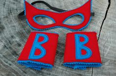 Customize Your Own Superhero MASK and CUFFS Set - Personalization included - Eco Felt Mask. $20.00, via Etsy.