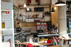 Image result for oma bistro barcelona Shopping In Barcelona, Coffee Shops, Bakeries, Liquor Cabinet, Storage, Image, Furniture, Ideas, Home Decor