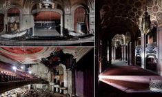 Photographs show how once thriving theatres have fallen into decay