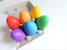 Maraca Egg Shakers - Rainbow Half Dozen