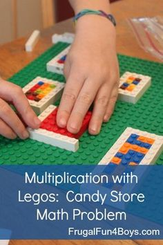 Kids design candy boxes to explore the geometric model of multiplication - with Legos!