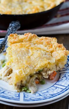 One Dish Chicken Pot Pie with Cheddar Crust Recipe