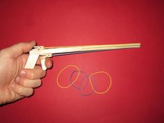 Picture of How to make a Rubber Band Gun with Popsicle Sticks