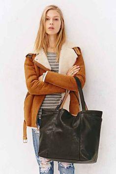 BDG Large Reversible Pocket Tote Bag-
