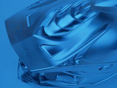 The blue collection: Motorcycle helmet from Daishin: milled on a DMU 60 P duoBLOCK