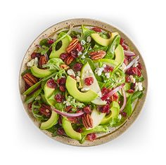 Avocado Salad Center I Avocados From Mexico Avocado Salad Recipes, Easy Salad Recipes, Easy Salads, Avocados From Mexico, Homemade Honey Mustard, Party Food Platters, Eating Clean, Pecan, Clean Eating