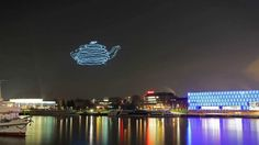 Spaxels Quadcopter Swarm Lightpainting / Linz, Austria 12/11/2013 The Ars Electronica Futurelab is experimenting with long-time-exposure shots to create 3d-M...