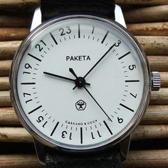 This is one of mine, a Russian Raketa #watch, and the time is 7:07pm. I got this off eBay five years ago for around US $40.00. I wear this a lot, though not so much in summer where the slightest sweat steams up the dial! It is totally not waterproof.