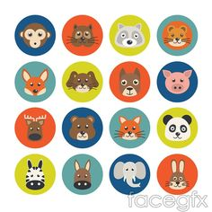 Small animal portrait vector