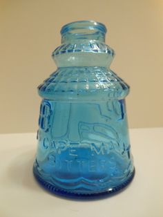 Wheaton Glass Bottle Cape May Bitters Blue | eBay