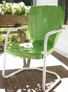Bon Thunderbird Metal Lawn Chair   Torrens Mfg.   Seafoam Green   $80