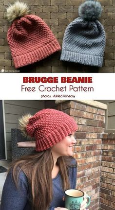 Most current Images tunisian Crochet Hat Popular Brugge Beanie Slouch Free Crochet Pattern Crochet Adult Hat, Crochet Beanie Pattern, Slouchy Beanie Pattern, Crochet Slouch Beanie, Easy Crochet Hat, Crochet Scarves, Crochet Clothes, Crochet Crafts, Crochet Projects