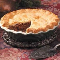 French Canadian Meat Pie ... filling sounds a bit like what our {Italian} turkey stuffing was like.