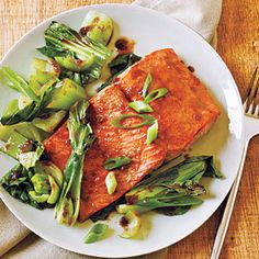 Salmon and Bok Choy | Very tasty - Cooked twice and was delicious both times. The homemade sesame soy sauce would be a great marinade for lots of meats.