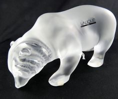 Large Lalique Prowling Bear : Lot 330B