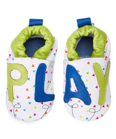 Look at this Green & Blue Play Time Leather Booties on #zulily today!