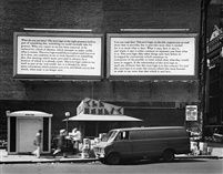 Joseph Kosuth: Text Context, 1979. Text on two billboards in New York.