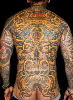 Back Piece tattoo by Aaron Della Vedova - Guru Tattoo - San Diego, CA.