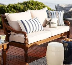 Faraday Outdoor Sofa from Pottery Barn.  We need front porch furniture!