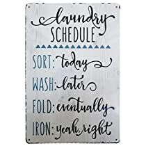 Check this out at Amazon Rustic Laundry Rooms, Laundry Room Signs, Farmhouse Laundry Room, Diy Projects Laundry Room, Washroom Sign, Laundry Schedule, Front Door Signs, Vintage Metal Signs, Vintage Farmhouse