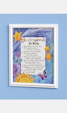 Ten Commandments for Kids Print